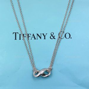Authentic Tiffany & Co Infinity Pendant Necklace